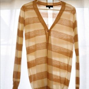 Cream/tan striped cardigan